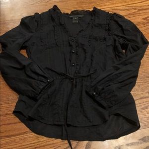 Marc by Marc Jacobs ruffle button up blouse waist